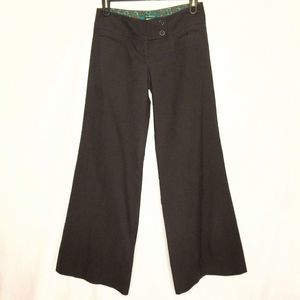 Cartonnier  Wide Leg Wool / Cotton Dress Pants